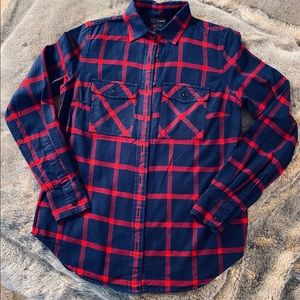 J Crew flannel shirt - size 00